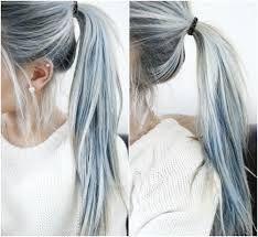 grey / steel grey hair