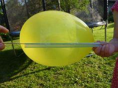 Balónová raketa - zábavný pokus pre deti Homeschooling, Homeschool