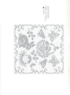 Gallery.ru / Фото #31 - Point de croix Collector N1 Avril-Mai 2009 - natalytretyak Crochet Cross, Crochet Bunny, Filet Crochet, Easter Crochet Patterns, Crochet Doilies, Rabbit Crafts, Easter Cross, Cross Stitch Animals, Knitting Charts