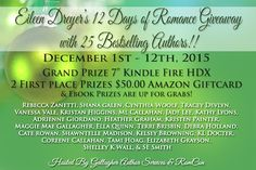 Karen's Killer Book Bench: EILEEN DREYER'S 12 DAS OF ROMANCE GIVEAWAY with 25 BESTSELLING AUTHORS. Enter for a chance to #win a #Kindle! http://www.karendocter.com/karens-killer-book-bench-eileen-dreyers-12-days-of-romance-giveaway-with-25-bestselling-authors.html