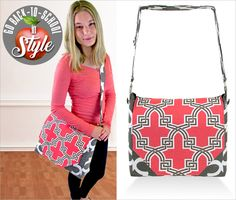 Messenger Style Brief Bag: Go Back-to-School in Style | Sew4Home