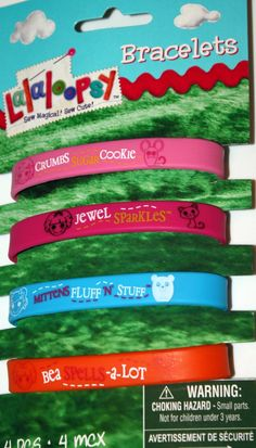 Lalaloopsy Rubber Bracelets, Pack of 4 Lalaloopsy Party Favors: Crumbs, Jewel, Mittens & Bea - deal offer