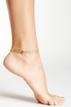 Sapanyu Daisy Discs Anklet Gold