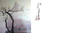 Chinese painting, mural, Irina Dolgikh, acrilics