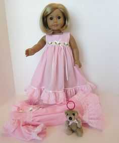 American Girl Doll: Pink Dainty Softness by SewSpecialByBarb