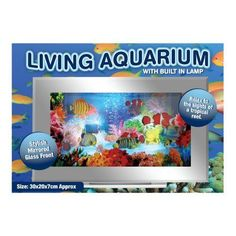 Bedside Moving Small Tropical Aquarium Table Lamp Brand New