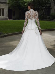 Kaylee's Bridal - Italian Satin A-line Sweetheart and V-neck Wedding Dress