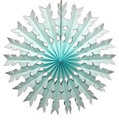 12pack 22 Inch Large Tissue Paper Snowflake Light Blue -- Visit the image link more details. (This is an affiliate link) #ChristmasOrnaments