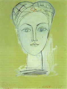 """treebystream: """"Pablo Picasso. Portrait de Françoise au long cou I. 1946 year """""""