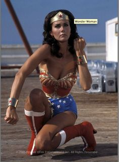 Linda Carter ✾ Wonder Woman Brought to Life by: Lynda Carter The show only ran three seasons from but Lynda Carter's Wonder Woman has endured in the heart of everyone. Linda Carter, Gal Gadot, Grudge Match, Super Heroine, Bermuda Triangle, Cosplay Costume, Wonder Women, Norma Jeane, Portraits