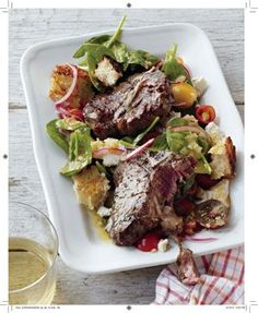 Drool-Worthy Recipe of the Week: Curtis Stone's Grilled Lemon Oregano Lamb Chops With Rustic Bread Salad:This celebrity chef whips up an amazing Mediterranean dish even the best Greek cooks would be jealous of.