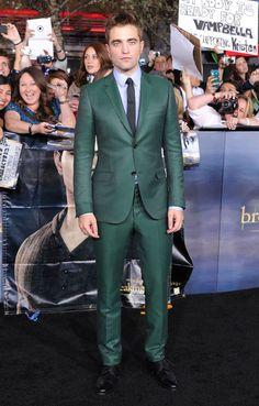 Rob Pattinson / green suit