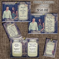 Rustic Wedding Invitation Package save the date by OldOwlPress