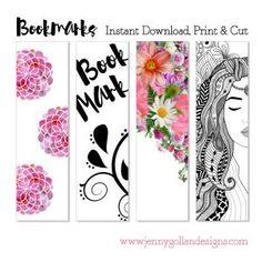 Instant download printable bookmark templates.