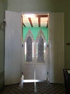 Doors in restaurant in Cuba.