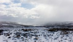 Snowstorms sweep across the Yorkshire moors