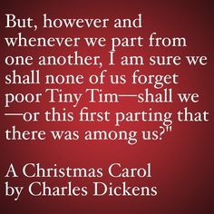 My Favorite Quotes from A Christmas Carol #37 - …this first parting there was among us...