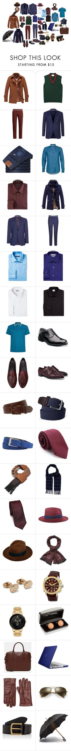 """Базовый гардероб"" by tsjk on Polyvore featuring Gucci, Incotex, Corneliani, Minimum, Prada, Jaeger, Baldessarini, Geoffrey Beene, Perry Ellis и Van Heusen"