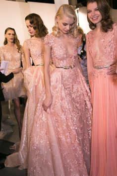 109 backstage photos of Zuhair Murad at Couture Spring 2015.