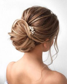 Chignon wedding hairstyle ideas | Updo bridal hairstyle ideas