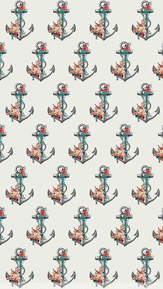 Nautical Wallpaper, Iphone Wallpaper, Wallpapers, Anchor, Wallpaper, Backgrounds