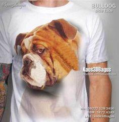 Kaos ANJING Bulldog, Bulldog Side Face 3D, Kaos 3D Dog Lover, Kaos Gambar Anjing, Komunitas Pecinta Anjing Ras, http://instagram.com/kaos3dbagus, WA : 08222 128 3456, BBM : 5E72 A3A9, LINE : kaos3dbagus
