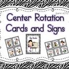 $Programmable Center Signs and Cards (Zebra Print) -- This product contains  a complete center chart kit. It contains 2 documents - 1 is a pdf of ...
