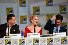 Josh Dallas, Jennifer Morrison and Colin O'Donoghue attend ABC's 'Once Upon A Time' panel during Comic-Con International 2014 at San Diego.