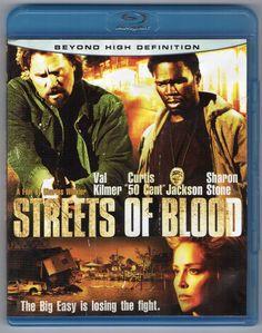 Streets of Blood Blu-ray DVD Movie Curtis Jackson Sharon Stone Val Kilmer