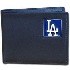 MLB Los Angeles Dodgers Leather Bi-fold Wallet by Siskiyou. $19.60. Lots of pockets and credit card slots. Officially Licensed. leather. Fully Cast and Enameled Team Emblem. Packaged in a gift tin. Genuine Napa Grain Leather. These genuine leathe bi-fold wallets are made of high quality Napa grain leather with a sculpted team emblem depicting your favorite team. Packaged in a collector's tin that makes them perfect for gift giving.