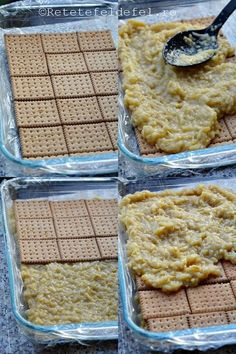 prajitura-cu-mere-si-biscuiti-jpg2 No Cook Desserts, Sweets Recipes, Apple Recipes, Baby Food Recipes, Delicious Desserts, Cake Recipes, Cooking Recipes, Yummy Food, Romanian Desserts