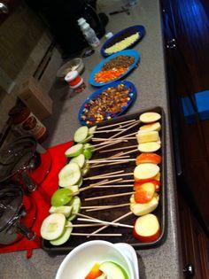 Caramel apple making