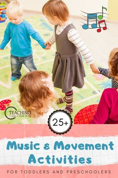 Music and movement is a wonderful way to work on physical skills, while also encouraging young children to learn sounds, words and patterns. Here are 10 favorite ideas to try with toddlers and preschoolers! Preschool Movement Activities, Preschool Songs, Infant Activities, Toddler Preschool, Preschool Curriculum, Physical Activities For Toddlers, Homeschool, Kindergarten Songs, Preschool Ideas
