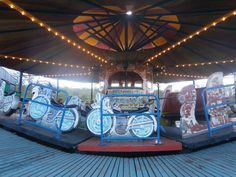 Vintage Fairground Ride Carousel - Jones Bros Super Speedway at Black Country Living Museum, Dudley