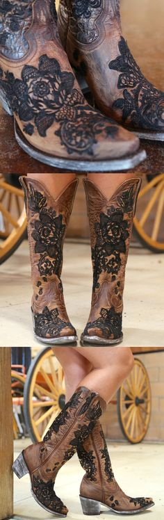 Western Outfits, Western Wear, Cute Shoes, Me Too Shoes, Strapless Lace Wedding Dress, Lace Dress With Sleeves, Cowgirl Boots, Swagg, Shoe Boots
