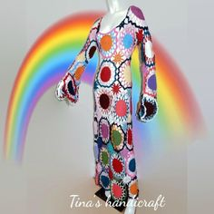 Vestido de ganchillo hippie ropa boho vestido gitano   Etsy Gypsy, Dresses With Sleeves, Boho, Long Sleeve, Swimwear, Outfits, Fashion, Gipsy Wedding, Hippie Crochet