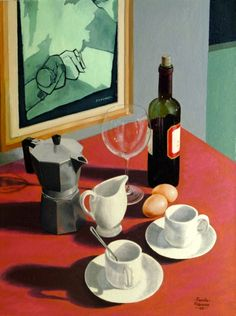 by Felice Casorati (Italian Painting Still Life, Still Life Art, Italian Painters, Italian Artist, Still Life Images, Shadow Art, Modern Art, Contemporary Art, Art For Art Sake