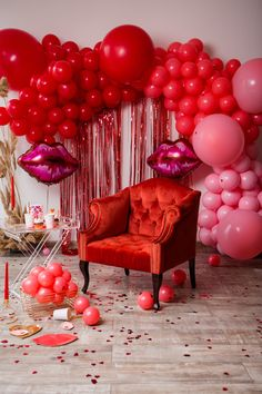 Red Party Decorations, Birthday Balloon Decorations, Valentines Day Decorations, Decoration Table, Valentine Backdrop, Valentines Balloons, Valentines Day Party, Helium Balloons, Latex Balloons