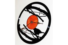 These awesome clocks are laser cut from old recordsThey are great conversational pieces fro every home or office. Clocks, Birds, Dreams, Awesome, Pretty, Cute, Design, Tag Watches, Bird