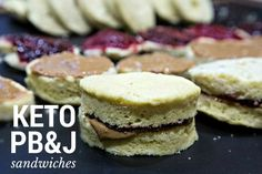 I made these keto peanut butter and jelly sandwiches for my children for lunch and now we all love them. Low carb and high fat. Perfect lunch or dinner.