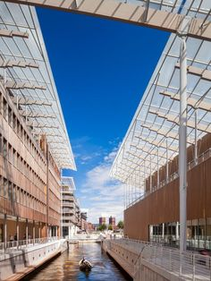 Renzo Piano Designs a New Home for Contemporary Art in Oslo. One of the canals that divides the structure.