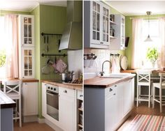 composition faktum stat - Ikea Little Kitchen, Decoration, Small Spaces, Sweet Home, Kitchen Cabinets, Interior, Room, House, Furniture