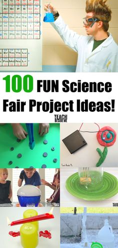 Finsing the best science fair project idea can be hard! Check out this list of 100 easy science project ideas that will make the science fair tons of fun! Cool Science Fair Projects, Science Activities For Kids, Preschool Science, Elementary Science, Science Experiments Kids, Science Classroom, Science Lessons, Teaching Science, Stem Activities