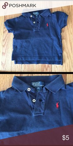 Ralph Lauren navy polo shirt Navy blue polo shirt by Ralph Lauren, great condition. Runs a bit small. Polo by Ralph Lauren Shirts & Tops Polos