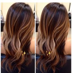 Balayage blonde brunette natural sun-kissed