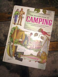 The Golden Book of CAMPING by Lauralous on Etsy, $30.00