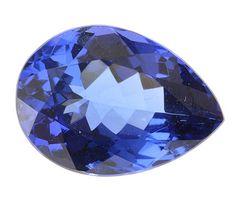 Genuine Tanzanite Loose Gemstone, Blue Purple Color, Pear Cut, 12.55 x 9.10 mm, 4.23 Carats at BitCoin Gems
