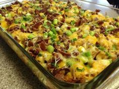 Chicken buffalo potato casserole
