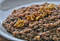 Risotto con radicchio, taleggio e noci – Habemus Fame Pasta, Grains, Food And Drink, Vegetables, Cooking, Ethnic Recipes, Kitchen, Risotto, Cucina
