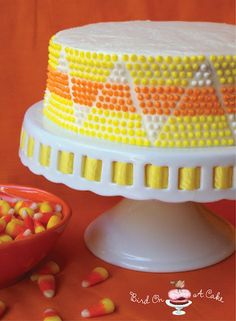 Candy Corn Cake. Such a cool design!